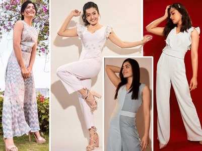 Check out Rashmika's jumpsuit collection
