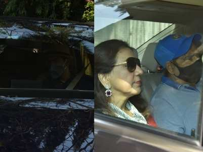 Varun Dhawan's family leaves for Alibaug
