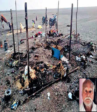 RBI helps salt farmer who lost home in fire