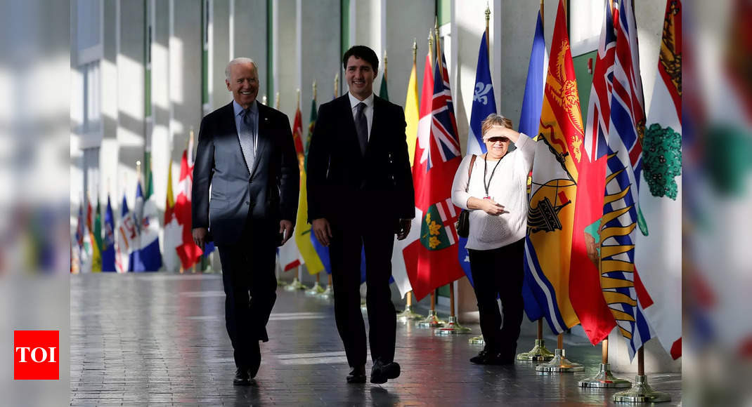 Biden, Canada's Trudeau to meet next month, collaborate on vaccines, medical supplies – Times of India