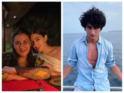 Pics of Sara, Amrita & Ibrahim from Maldives