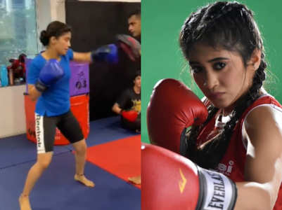 Shivangi's experience of boxing training