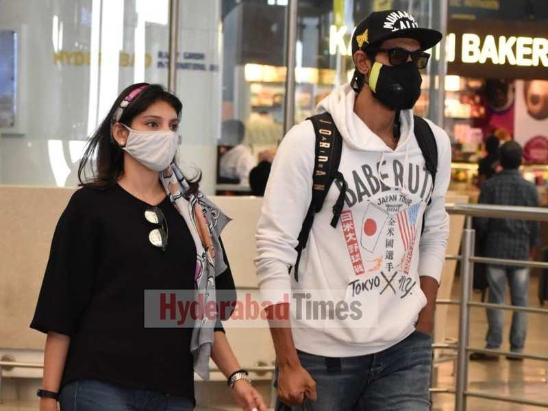 Spotted: Rana Daggubati and Miheeka Bajaj return to Hyderabad after a short trip to Mumbai