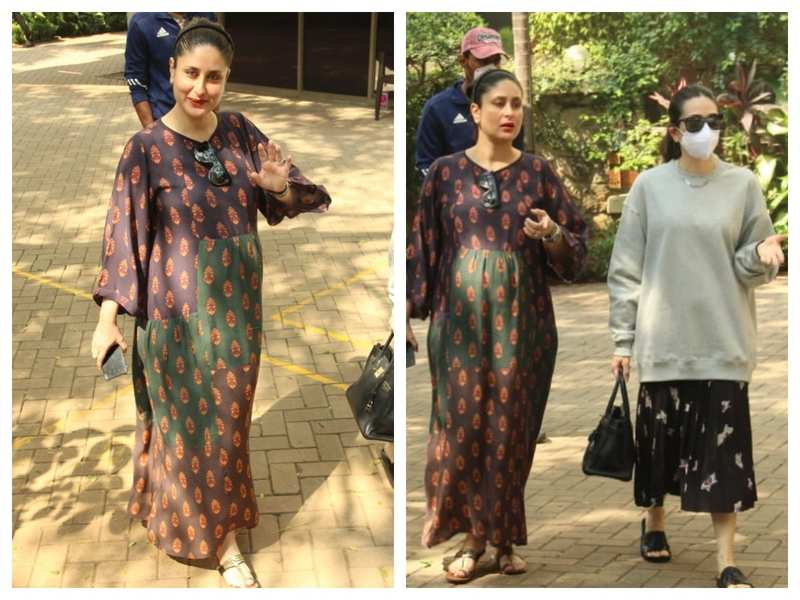 Photos: Kareena Kapoor Khan's pregnancy glow is unmissable as she steps out with sister Karisma Kapoor