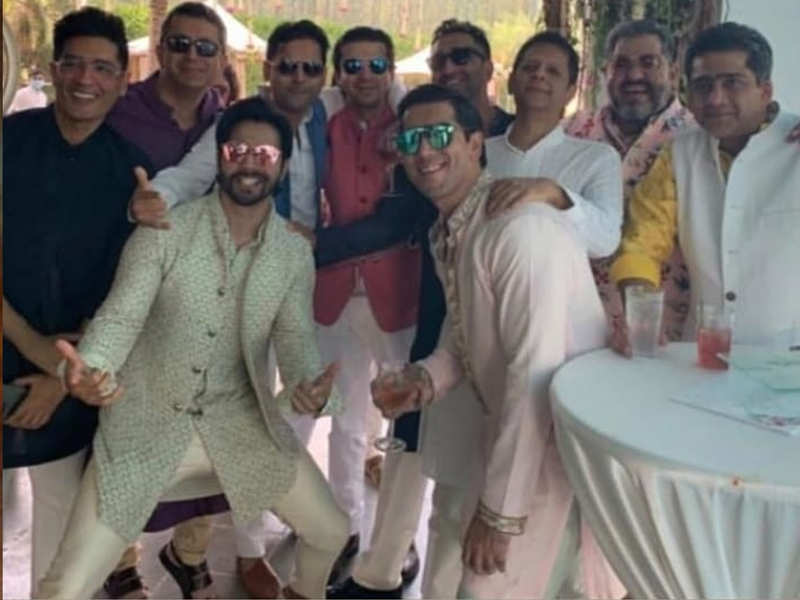 Dulha Varun Dhawan hangs out with his gang of boys in Alibaug ahead of the big wedding!