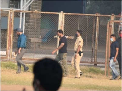 Salman Khan spotted shooting for 'Antim'