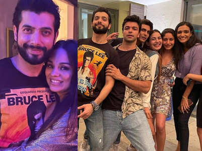 Surbhi, Anjum attend Sharad's birthday bash