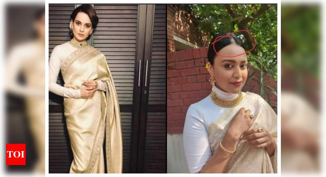 Swara Bhasker responds to Kangana Ranaut's 'class vs crass' comparison post - Times of India