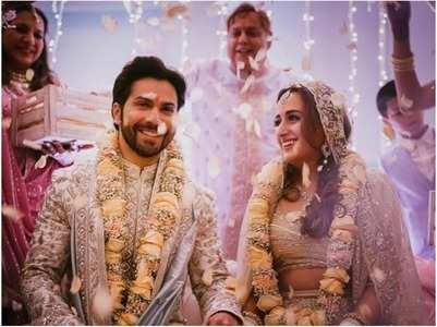 JUST MARRIED! Varun & Natasha tie the knot