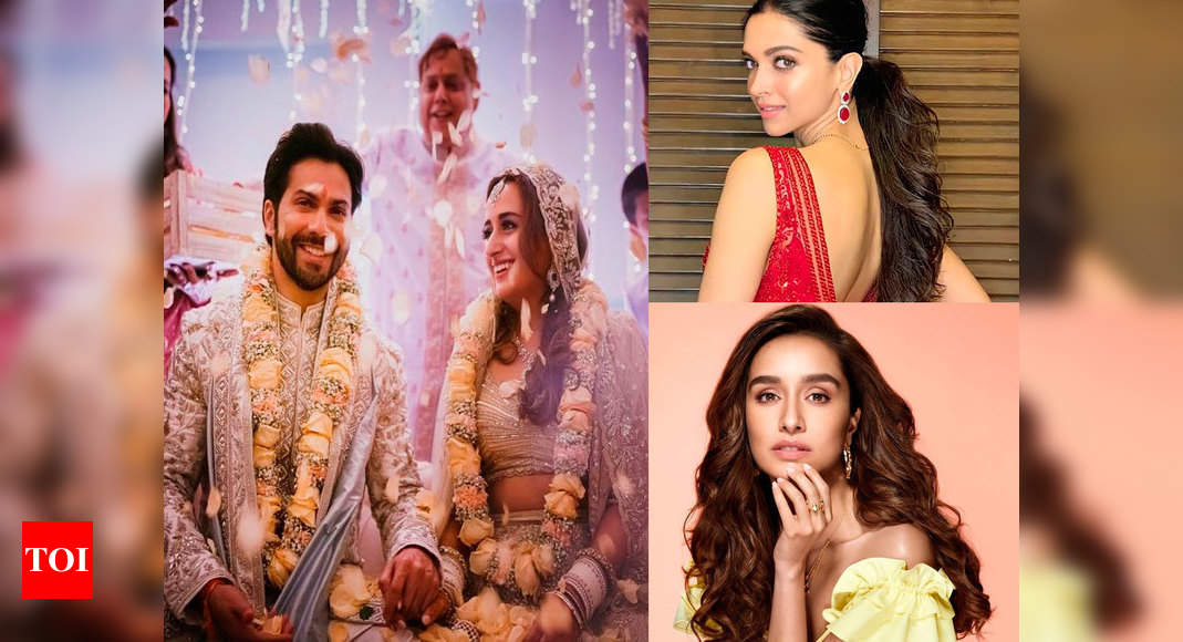 Varun Dhawan ties the knot with Natasha Dalal: Deepika Padukone, Shraddha Kapoor and other Bollywood celebs pour in wishes for the newlywed – Times of India