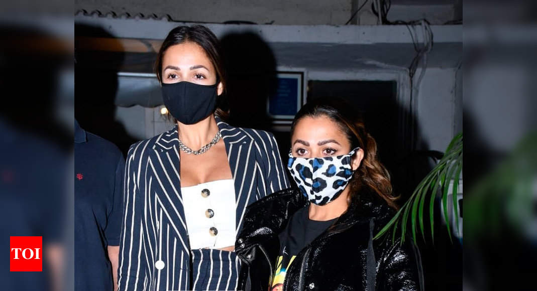 Malaika Arora and Amrita Arora head out for a nice family dinner date – Times of India
