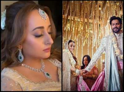 Watch: Natasha Dalal's bridal outfit