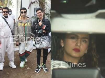 Pics: Varun-Natasha's guests; Malaika at her gym