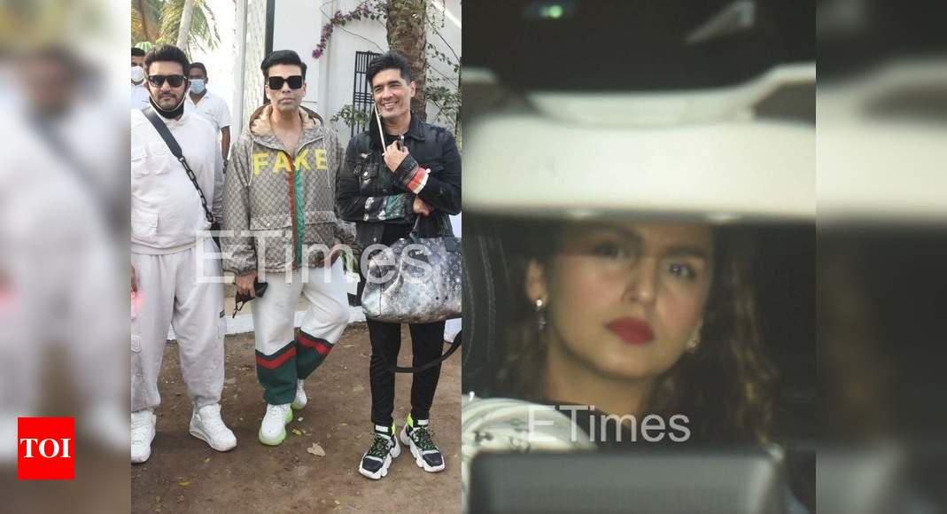 ETimes Paparazzi Diaries: Varun Dhawan-Natasha Dalal's guests return from Alibaug after the wedding; Huma Qureshi spotted at Sanjay Leela Bhansali's office – Times of India