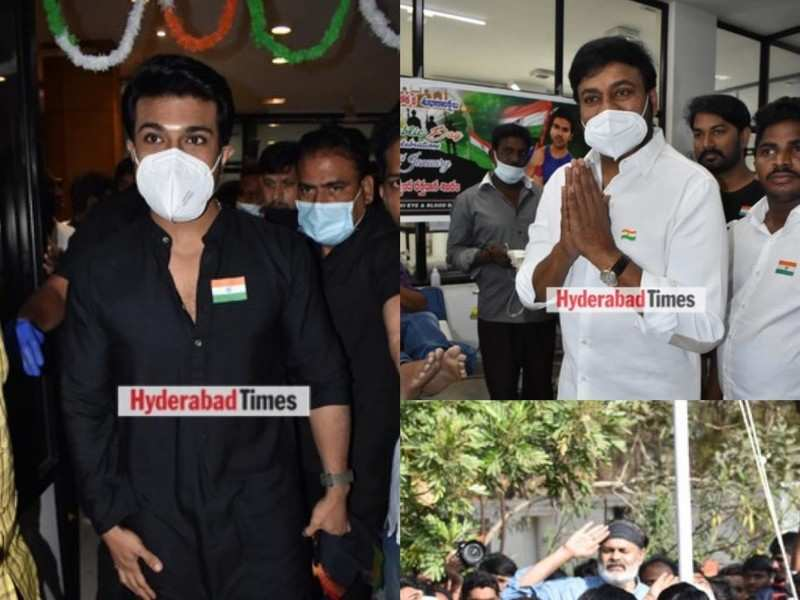 Spotted: Ram Charan, Chiranjeevi and Naga Babu's Republic celebrations in the city