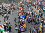 Pictures from tractor rally as farmers take to streets
