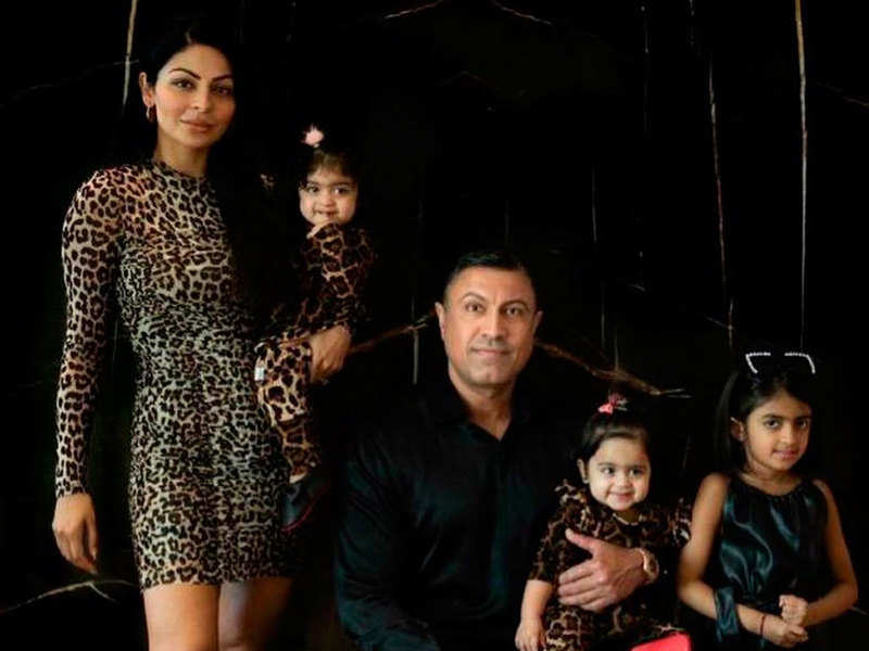 Neeru Bajwa's family portrait with her hubby and three daughters is all things regal
