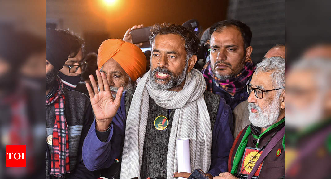 I feel ashamed and take responsibility: Yogendra Yadav on violence during tractor parade   India News – Times of India