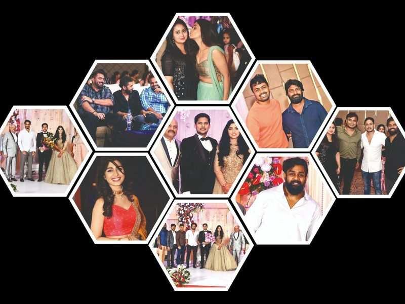 Sriimurali, Sharan and Ajai Rao among others at filmmaker Uday Mehta's son's wedding reception