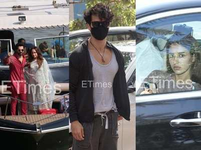 Pics: Varun-Natasha return home; Disha in city