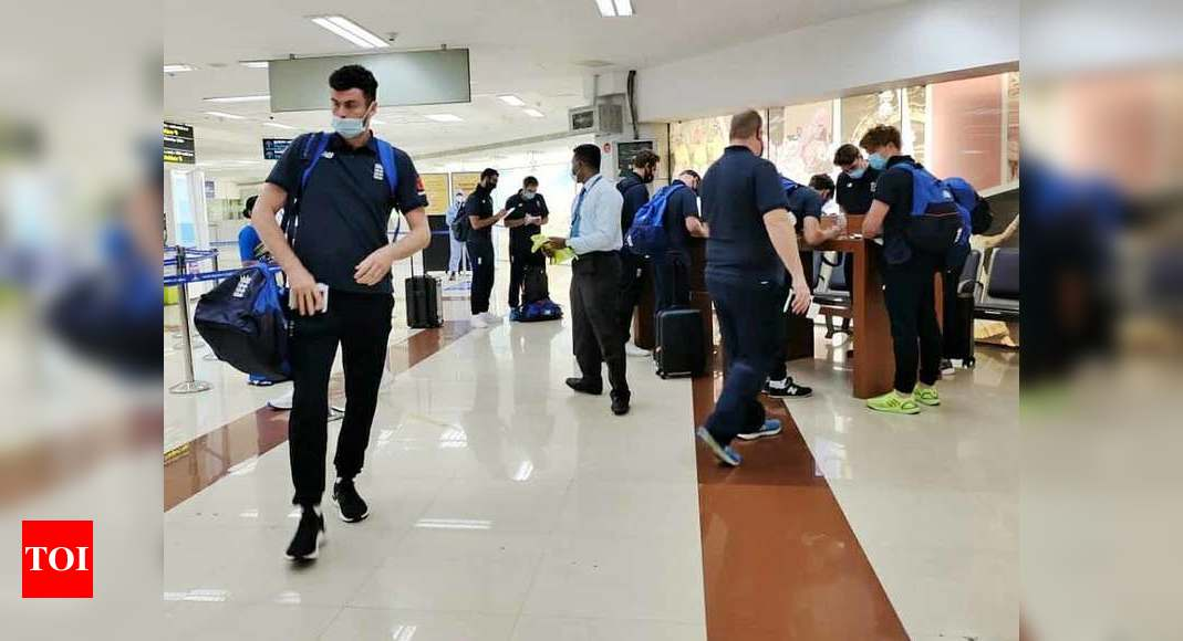 England cricket players arrive in Chennai for Tests against India