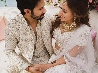 Priceless pics from Varun -Natasha's wedding
