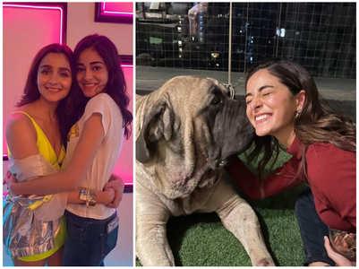 Alia clicks a pic of Ananya & Ranbir's pug