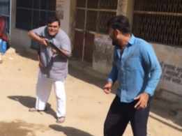 'Dhan Dhatudi Patudi': Hemang Dave and Aakash Zala spend a gala time on the sets
