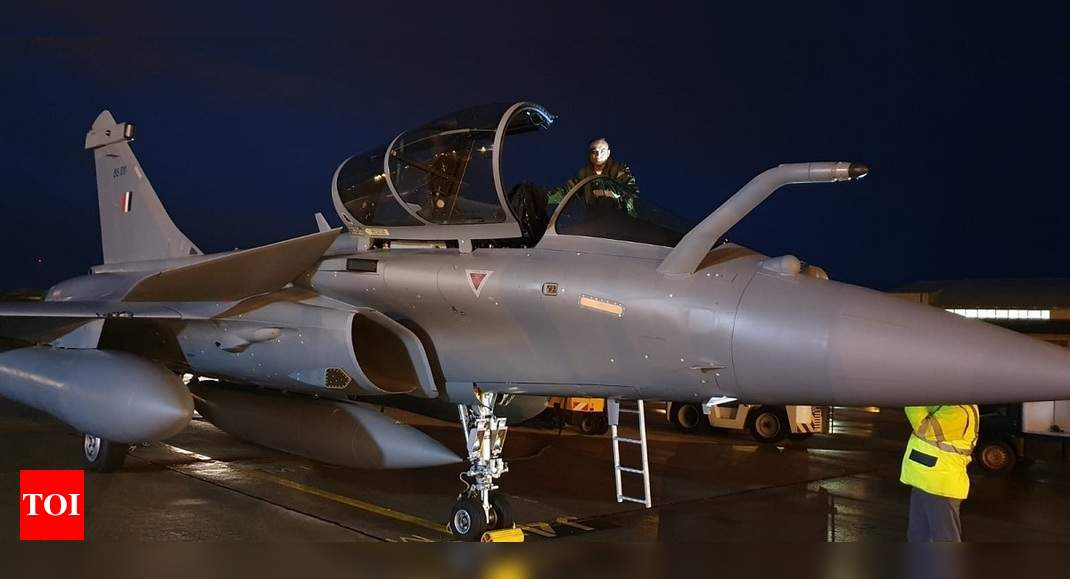 3 more Rafale fighter jets from France arrive in India | India News – Times of India