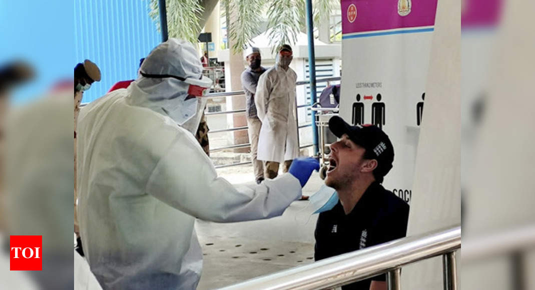 England players test negative for Covid-19 on arrival in Chennai | Cricket News – Times of India