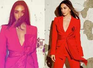 Kiara Advani looks ravishing in a red pantsuit
