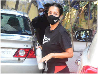 Malaika spotted at the gym in the city