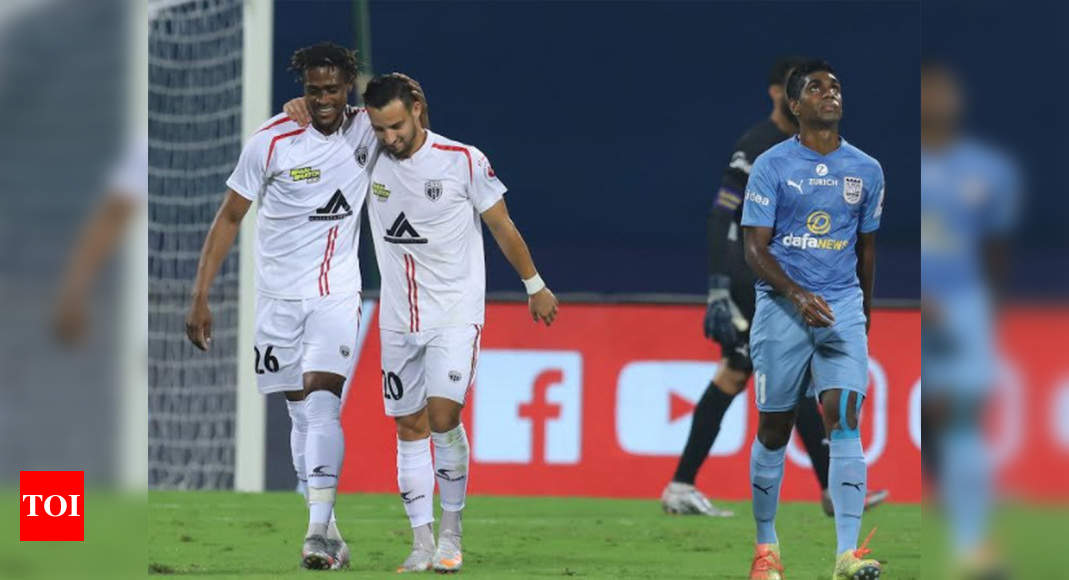 ISL: NorthEast United do a double against mighty Mumbai City with 2-1 victory   Football News – Times of India
