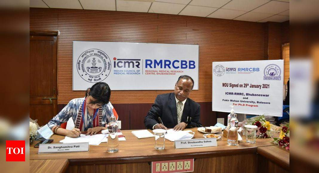 FM University inks MoU with ICMR-RMRC for research – Times of India