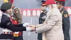 Chennai student Arpitha receives Best Cadet award from PM Modi