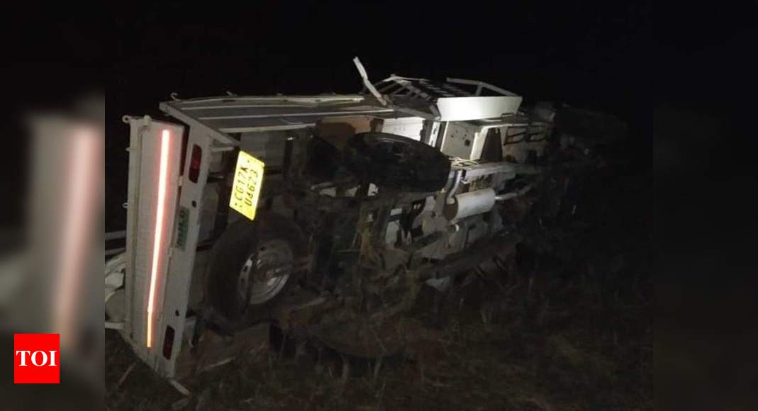 Koratpur road accident:  Odisha: 9 dead, 13 injured after van overturns in Koratpur | Bhubaneswar News – Times of India