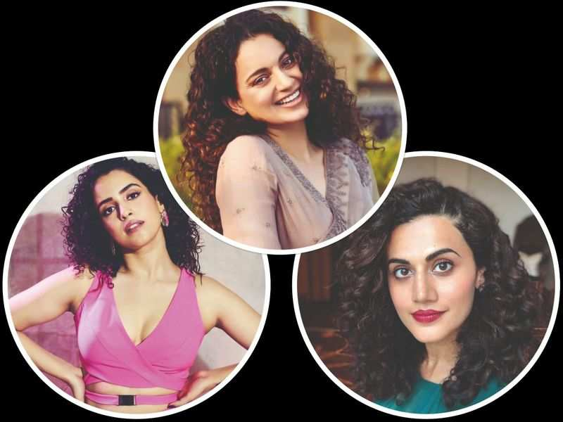 Take a cue from Kangana, Taapsee and Sanya and flaunt those natural curls