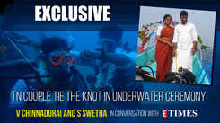 This couple from Tamil Nadu took the plunge and got married underwater
