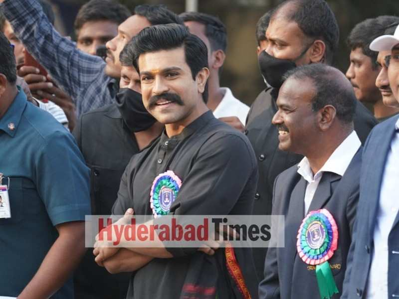 Spotted: Ram Charan looks dapper at the closing ceremony of Cyberabad Police' Annual Sports and Games Meet 2021