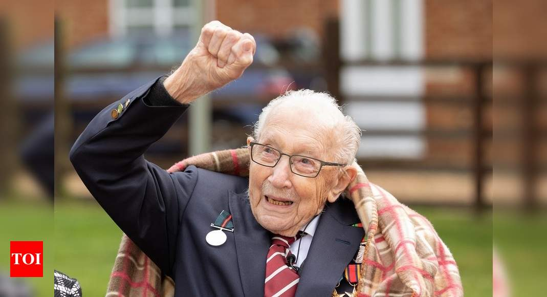 Capt. Tom Moore, UK veteran who walked for NHS, dies at 100 – Times of India