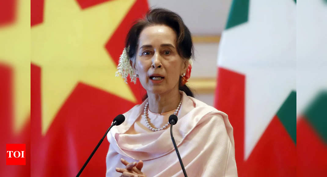 Aung San Suu Kyi: Myanmar's Suu Kyi charged, can be held until Feb 15 |  World News - Times of India