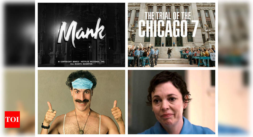 Golden Globe complete nominees list: 'Mank', 'The Trial of the Chicago 7', Sacha Baron Cohen, Olivia Col - Times of India