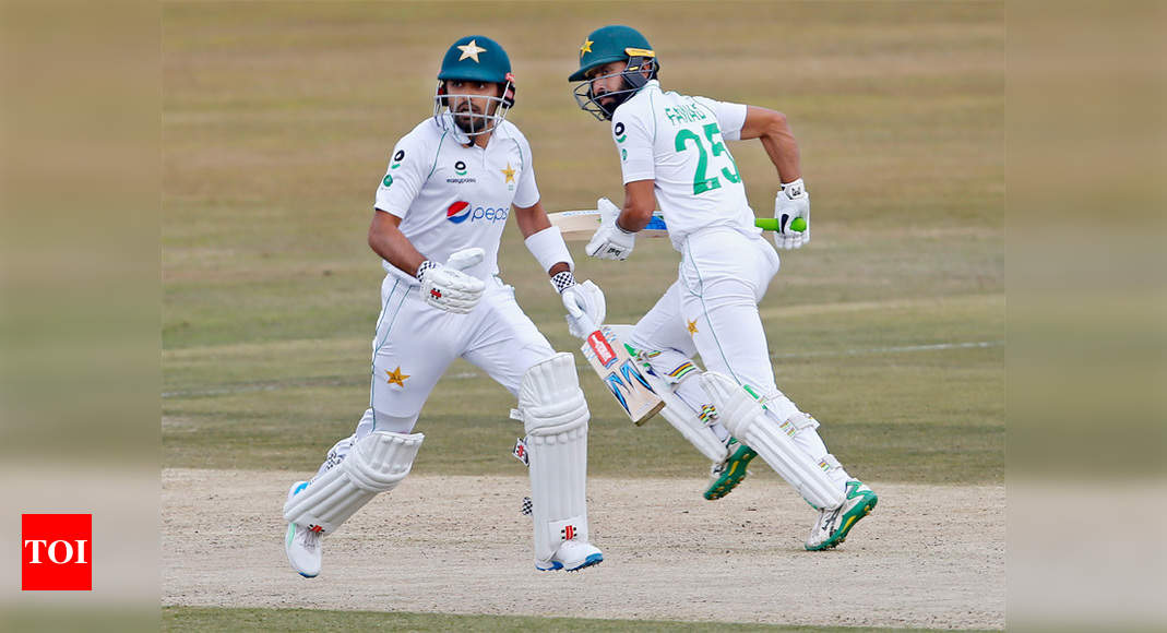 Babar, Fawad rescue Pakistan from rocky start in second Test | Cricket News – Times of India