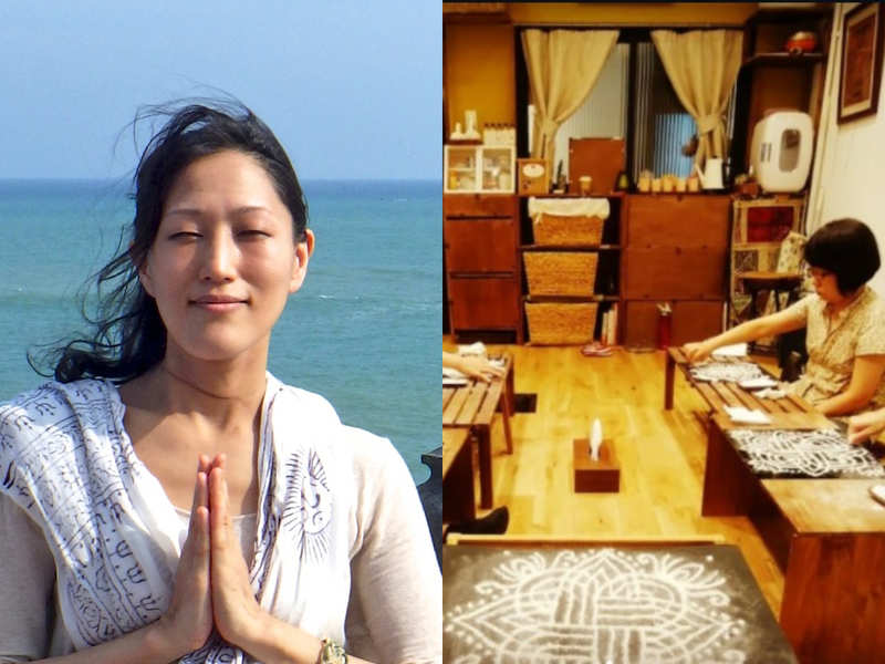 This Japanese yoga teacher is on a mission to popularise the art of kolam