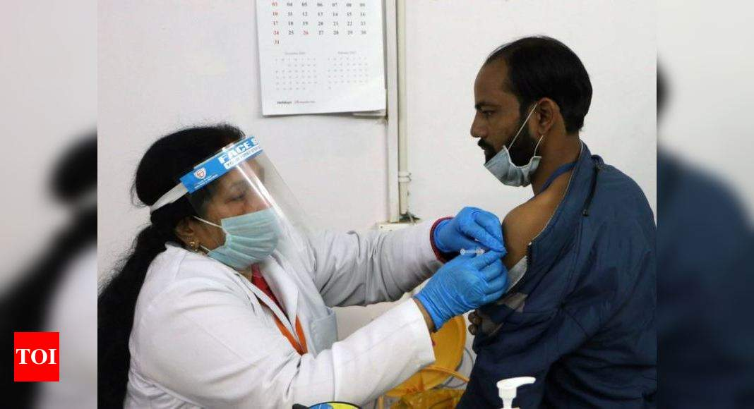 India No. 3 in world as 58L health, frontline workers get vaccinated - Times of India