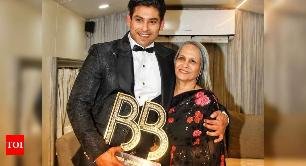 Bigg Boss 13 winner Sidharth Shukla thanks fans for trending his mom on her birthday; says, 'Made her rea - Times of India