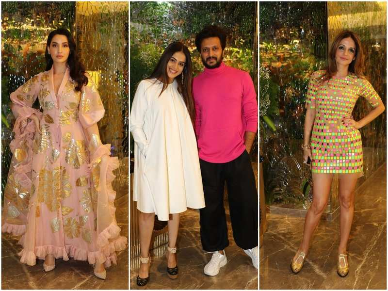 Nora Fatehi, Genelia and Riteish Deshmukh and Sussanne Khan at the luxe event at Lower Parel
