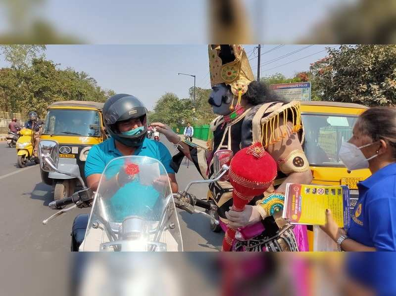 Actor turns Yamraj to create awareness about road safety