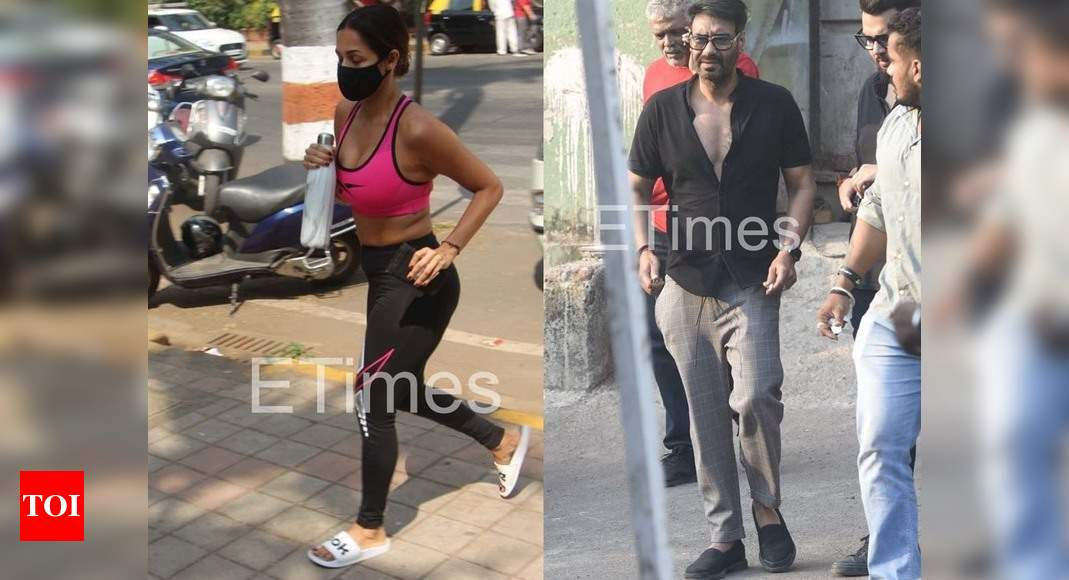 ETimes Paparazzi Diaries: Ajay Devgn makes a stylish appearance in the city, Malaika Arora continues to give us major fitness goals – Times of India