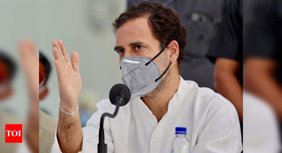 'Hum Do, Humare Do' running country, monopolising agriculture and destroying rural economy, says Rahul Gandhi in Lok Sabha | India News – Times of India